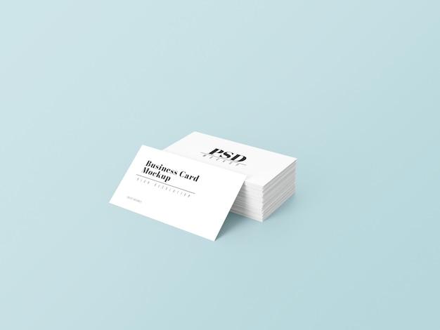 Maquette de carte de visite 3d simple blanche