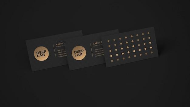 Maquette de carte de visite black luxury premium