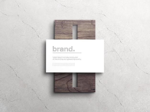 Maquette de carte de visite blanche élégante avec effet typographique