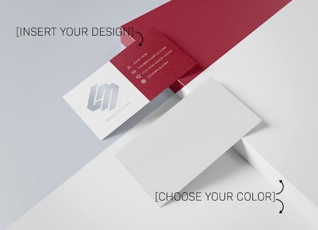 Maquette de carte de visite blanche entièrement modifiable