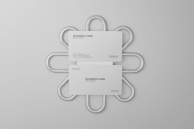 Maquette de carte de visite blanche de luxe