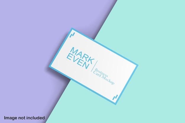 Maquette de carte de visite bleu et blanc