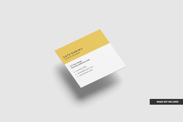 Maquette de carte de visite carrée isolée