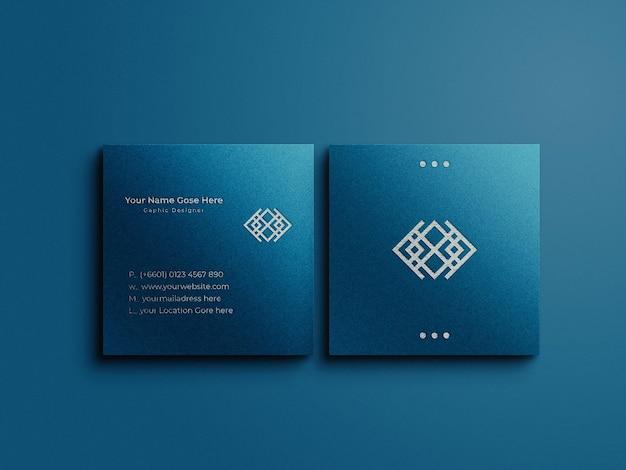 Maquette de carte de visite carrée de luxe