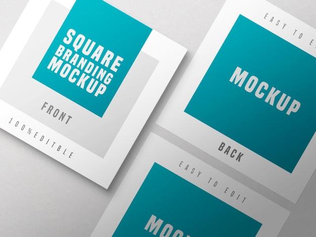Maquette de carte de visite carrée multiple