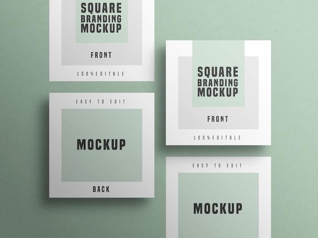 Maquette de carte de visite carrée