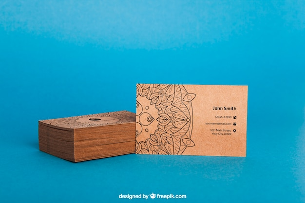 Maquette de carte de visite en carton