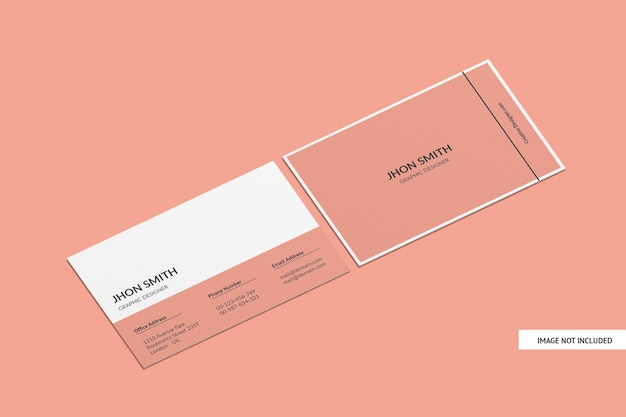 Maquette de carte de visite créative isolée