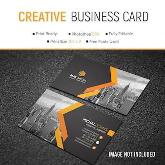 Maquette de carte de visite créative