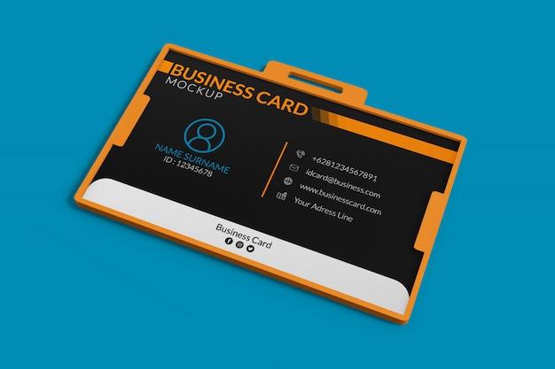 Maquette de carte de visite dans le support d'identité