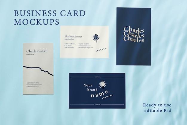 Maquette de carte de visite, ensemble psd modifiable prêt à l'emploi