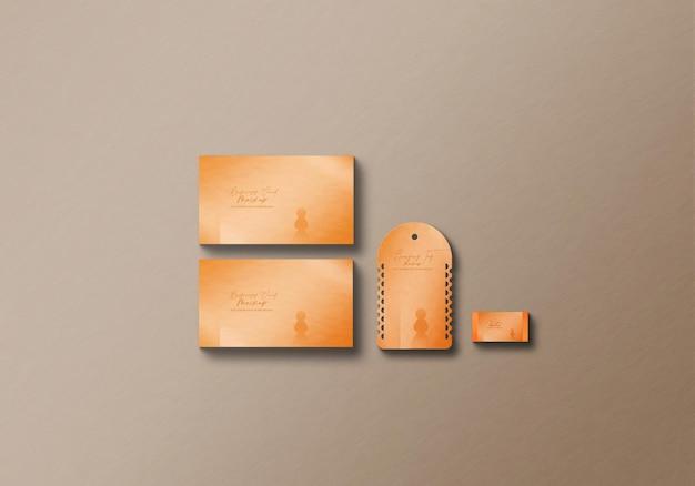 Maquette de carte de visite et d'étiquette suspendue