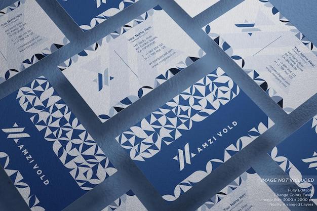 Maquette de carte de visite géométrique composition minimaliste