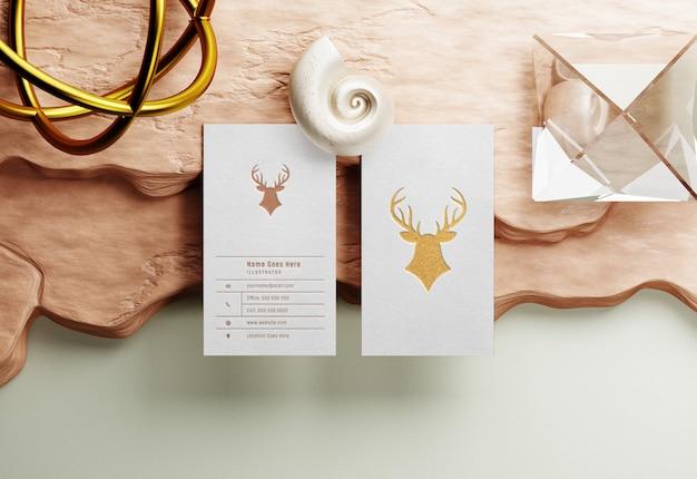 Maquette De Carte De Visite Avec Golden Letterpress PSD Premium