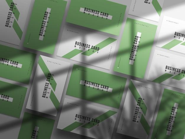 Maquette de carte de visite horizontale et verticale en gros plan