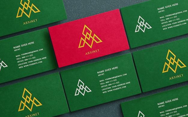 Maquette de carte de visite de luxe avec effet typographique