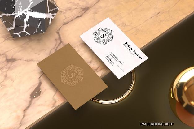 Maquette de carte de visite de luxe minimale