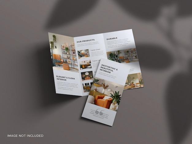 Maquette de carte de visite de luxe avec superposition d'ombre de feuille