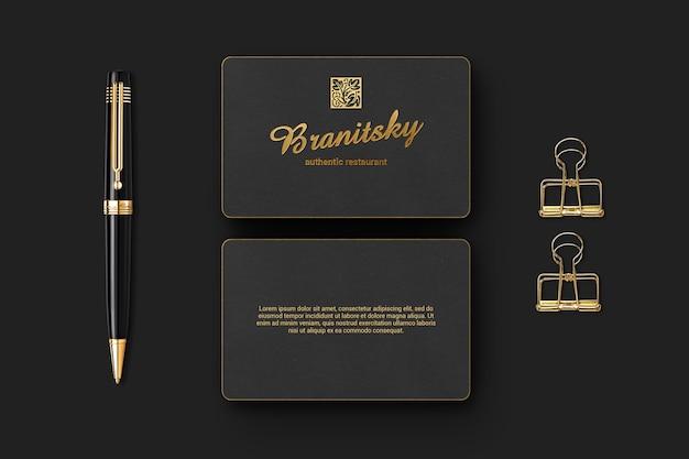 Maquette de carte de visite de marque de luxe