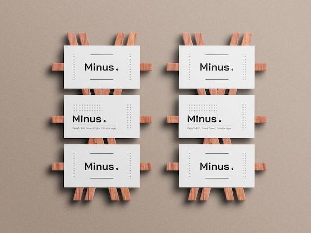 Maquette de carte de visite minimale blanche