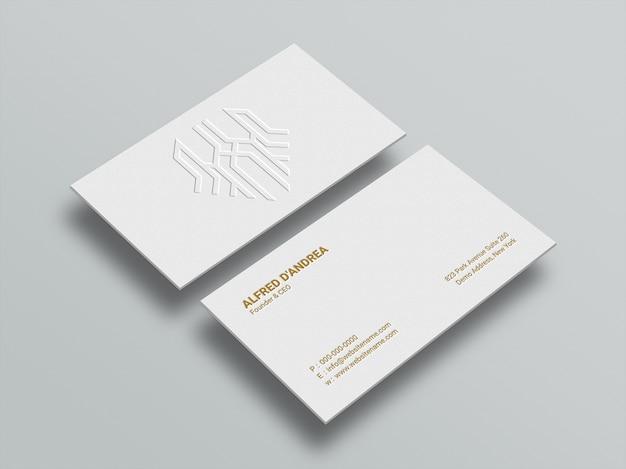 Maquette de carte de visite minimale propre avec effet typographique