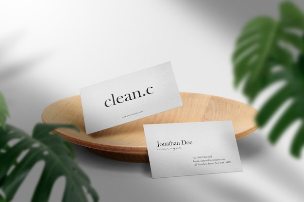 Maquette de carte de visite minimale propre