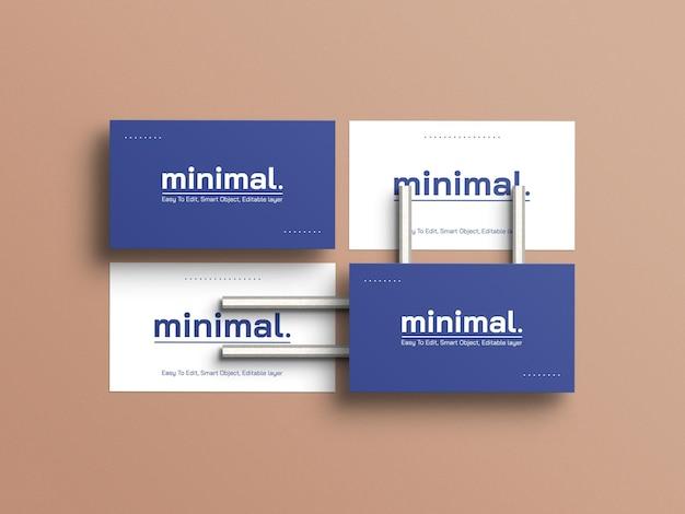 Maquette de carte de visite minimale