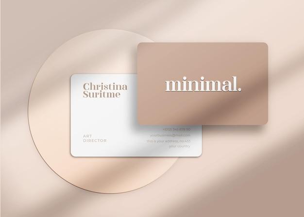 Maquette de carte de visite minimaliste et moderne