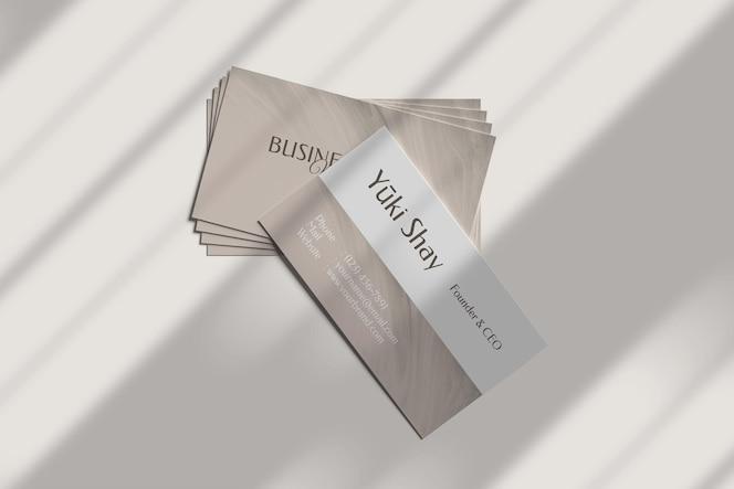 Maquette de carte de visite minimaliste