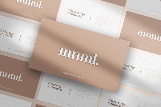 Maquette de carte de visite de modèle sans couture minimaliste et moderne