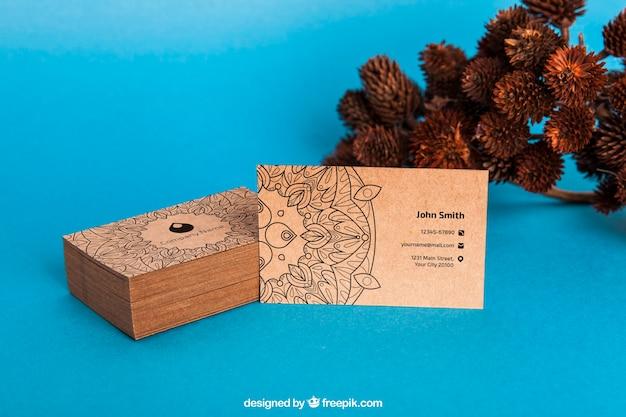 Maquette de carte de visite organique