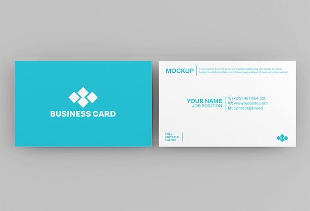 Maquette de carte de visite en papier minimal propre