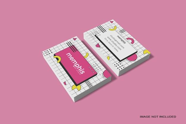 Maquette de carte de visite de pile isolée
