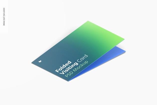 Maquette de carte de visite pliée, fermée