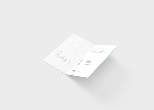 Maquette de carte de visite pliée
