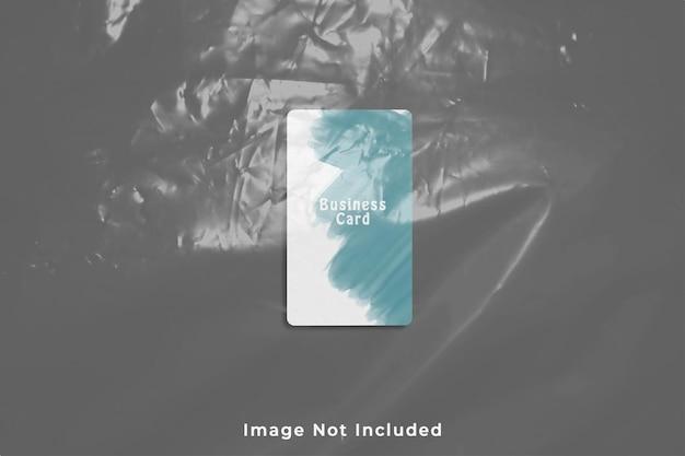 Maquette de carte de visite potrait coin arrondi avec effet plastique
