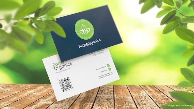 Maquette de carte de visite pour magasin écologique