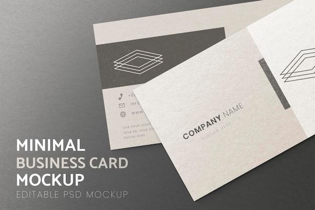 Maquette de carte de visite, psd de conception minimale réaliste