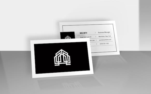 Maquette De Carte De Visite De Réflexion PSD Premium