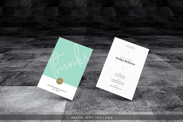 Maquette De Carte De Visite Avec Sol Sombre Grunge PSD Premium