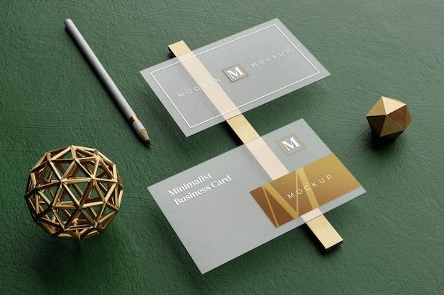 Maquette de carte de visite transparente