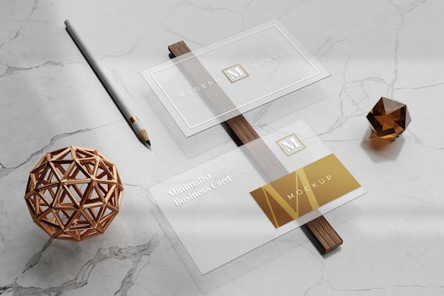 Maquette De Carte De Visite Transparente PSD Premium