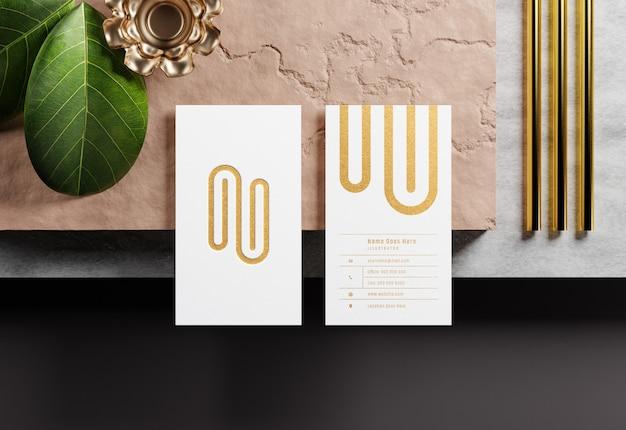 Maquette de carte de visite avec typographie