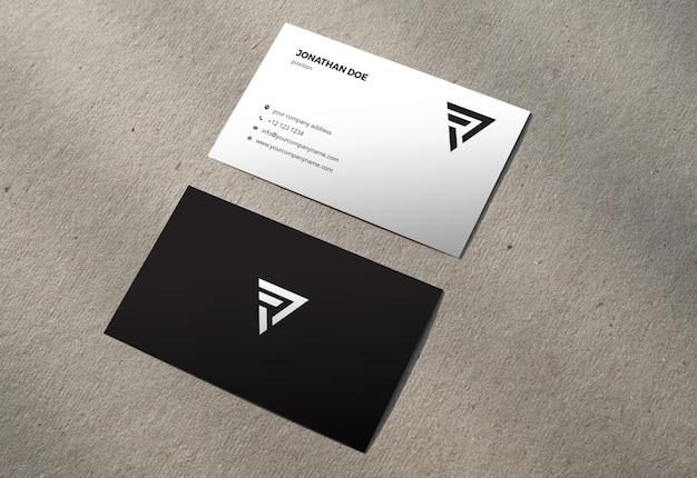 Maquette de carte de visite verticale en carton