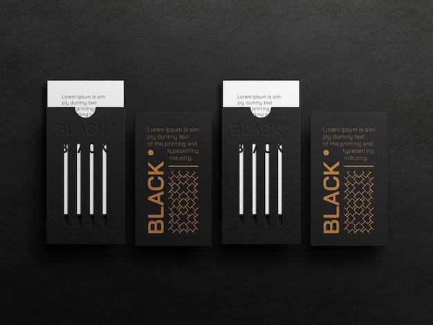 Maquette de carte de visite verticale de luxe avec effet typographique