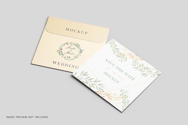 Maquette de carte de voeux avec enveloppe