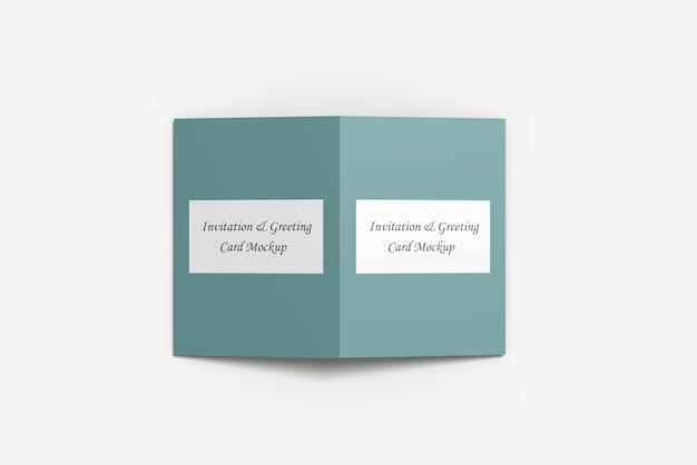 Maquette de carte de voeux ou d'invitation