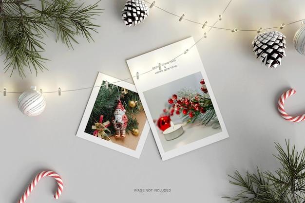 Maquette de carte de voeux joyeux noël