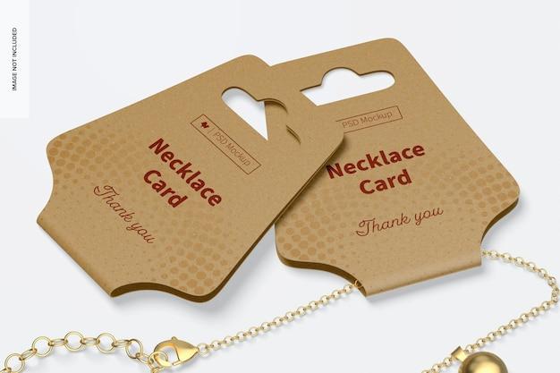 Maquette de cartes de collier