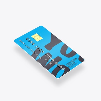 Maquette de cartes de crédit isolée